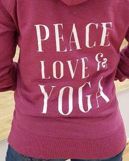 Peace Love & Yoga Hoodie